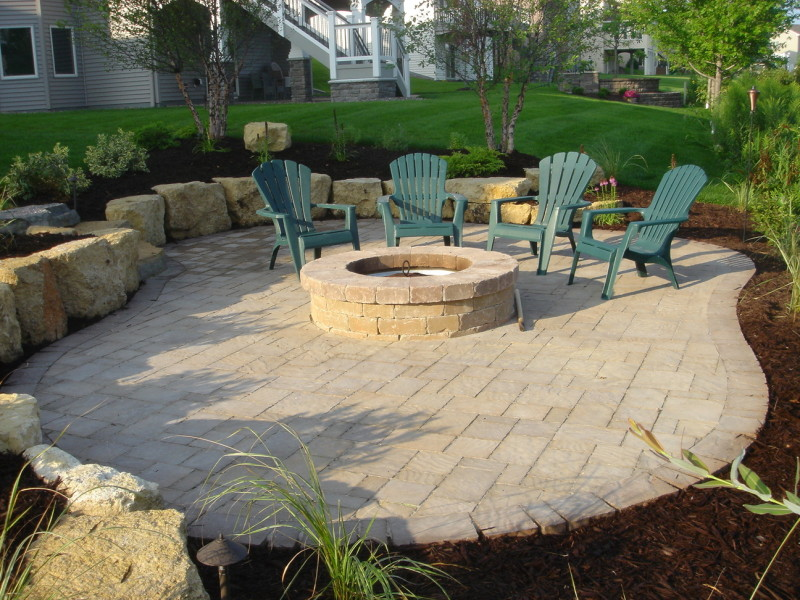 Maple Grove Fire Pit Paver Patio 01
