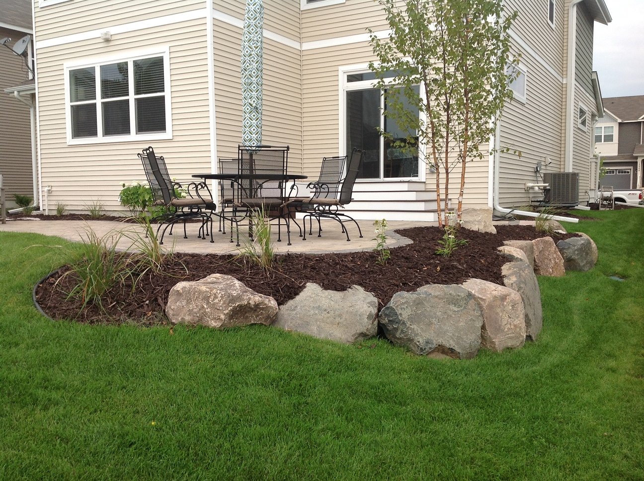Groundwrx landscape hardscape design maple grove mn Small backyard designs pictures
