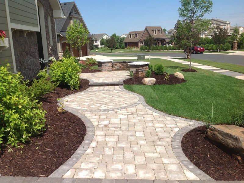 Maple Grove Landscaping and Paver Sidewalk 03