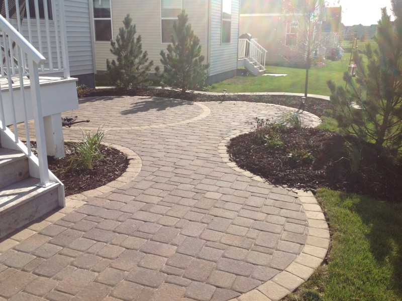 Maple Grove Retaining Wall Paver Patio Landscaping 07